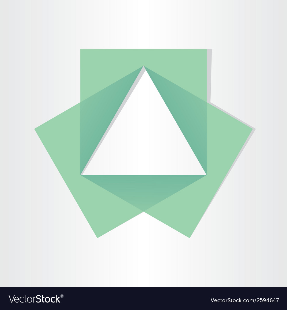 Geometrical triangle with squares math symbol Vector Image