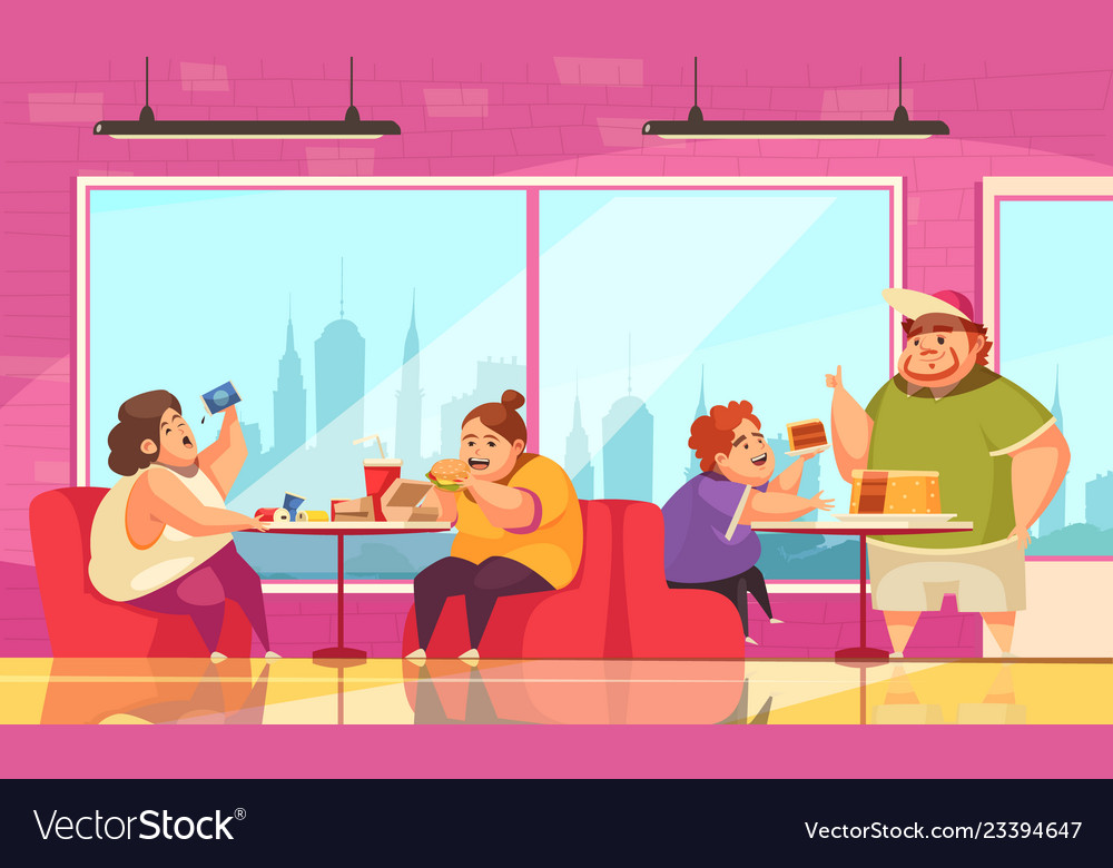 Gluttony and cafe background