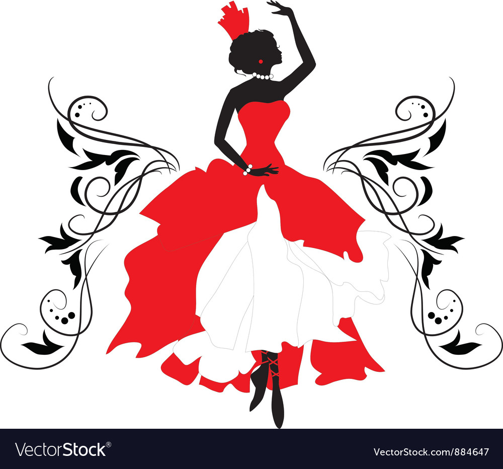 Graphic silhouette of a woman Isabelle series vector image