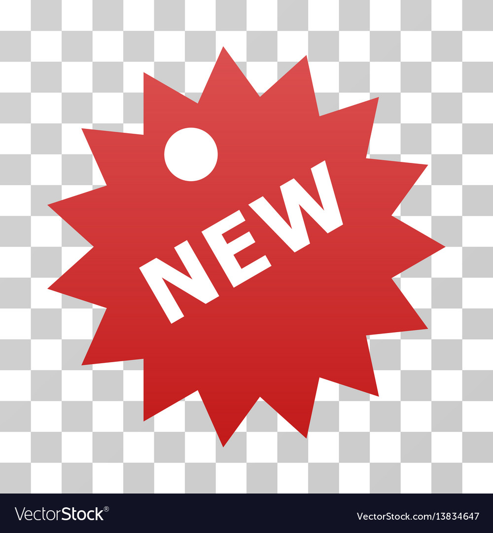 New sticker gradient icon vector image