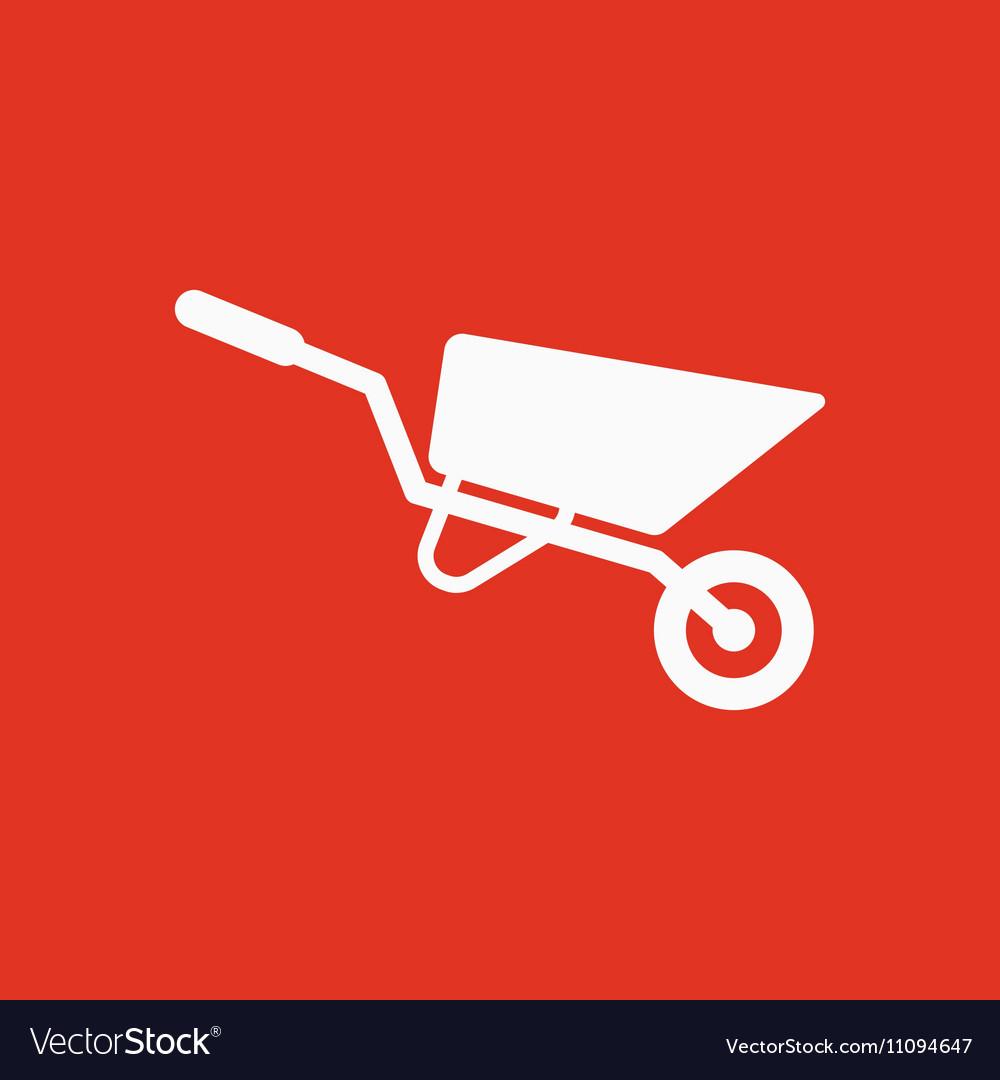The wheelbarrow icon Barrow symbol Flat