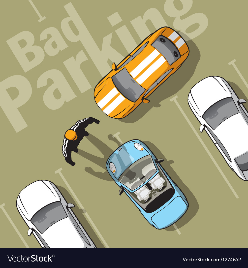 Bad parking vector image