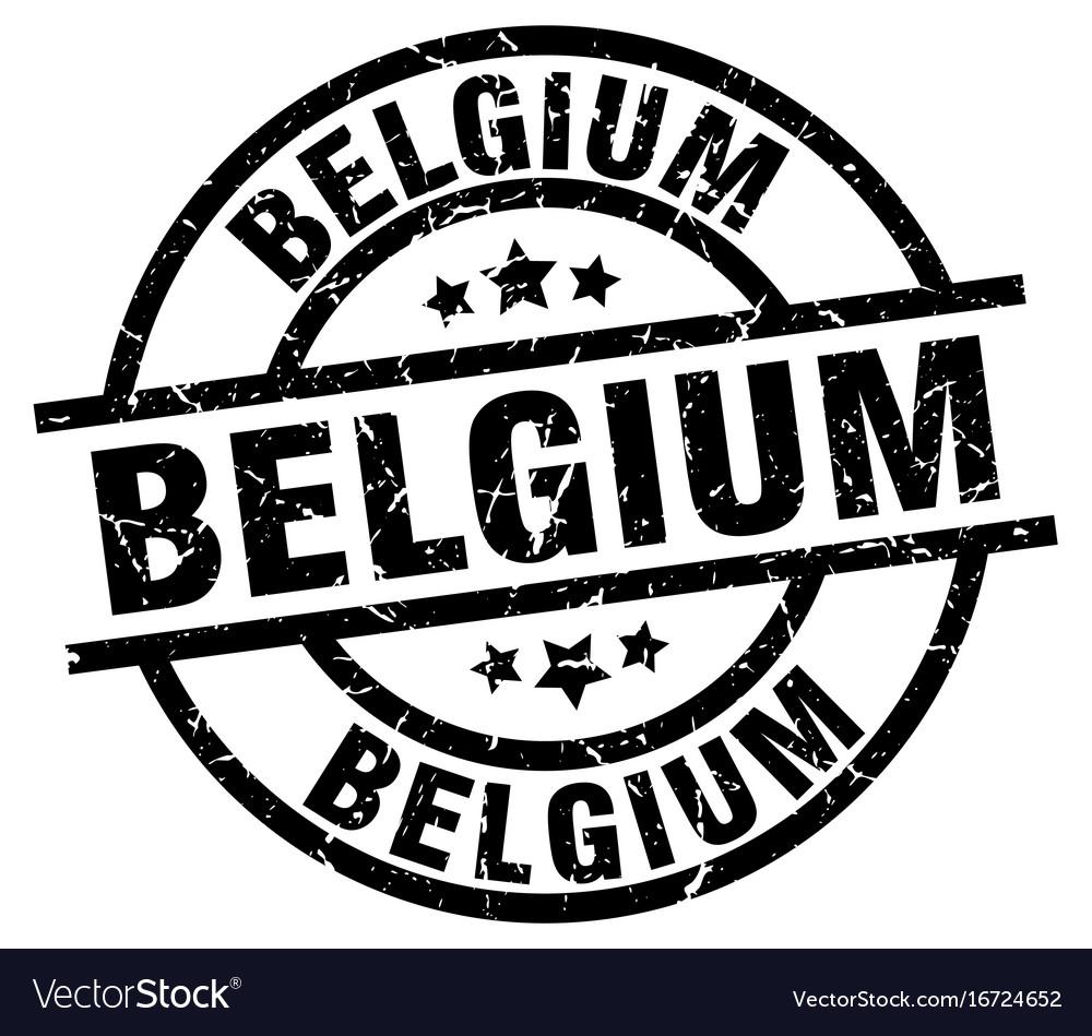 Belgium black round grunge stamp