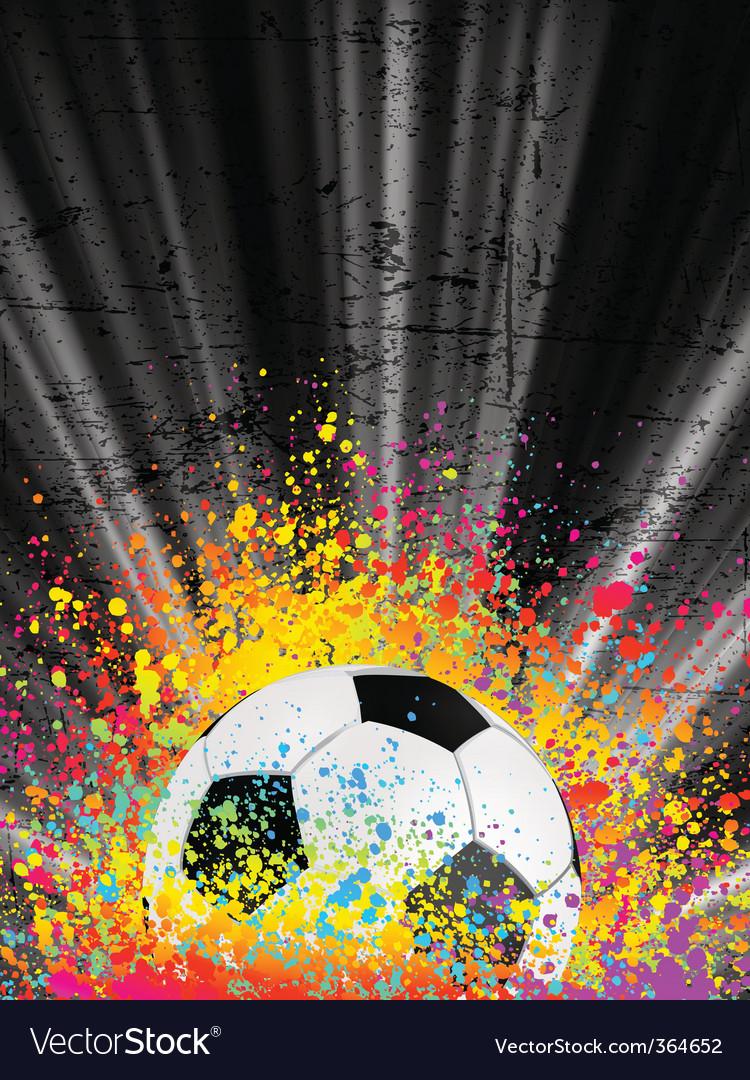 Football poster light burst vector image