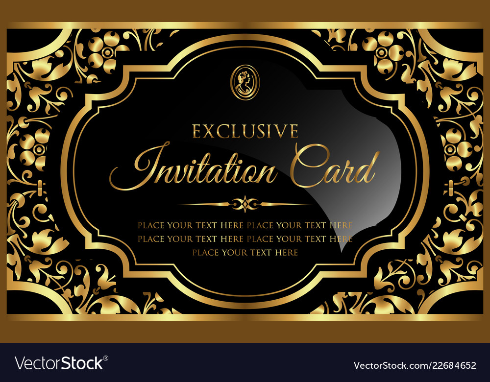 Luxury Template For Invitation Card