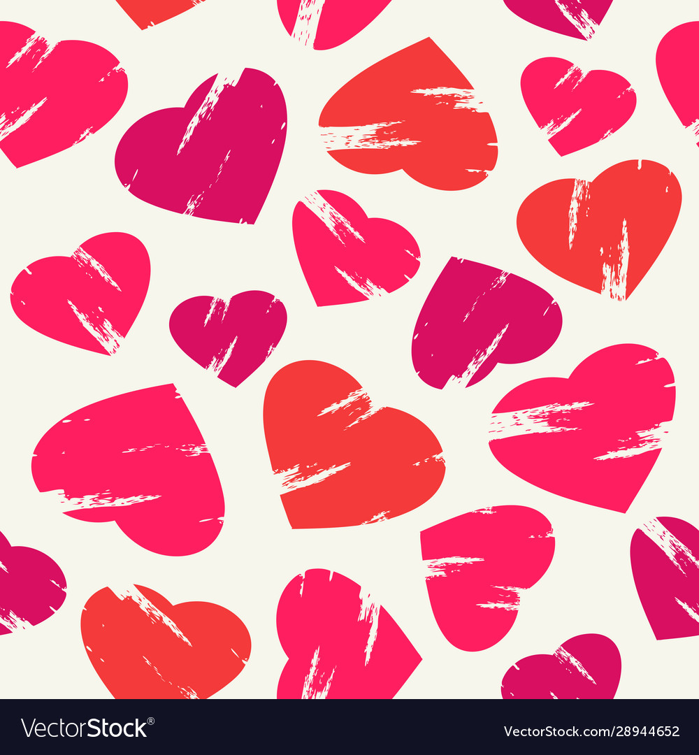 Red pink and orange seamless background