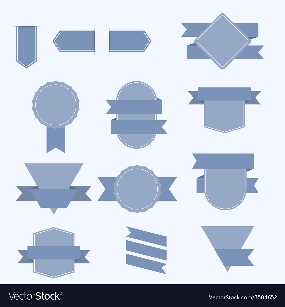 Set of banners with ribbons vector image