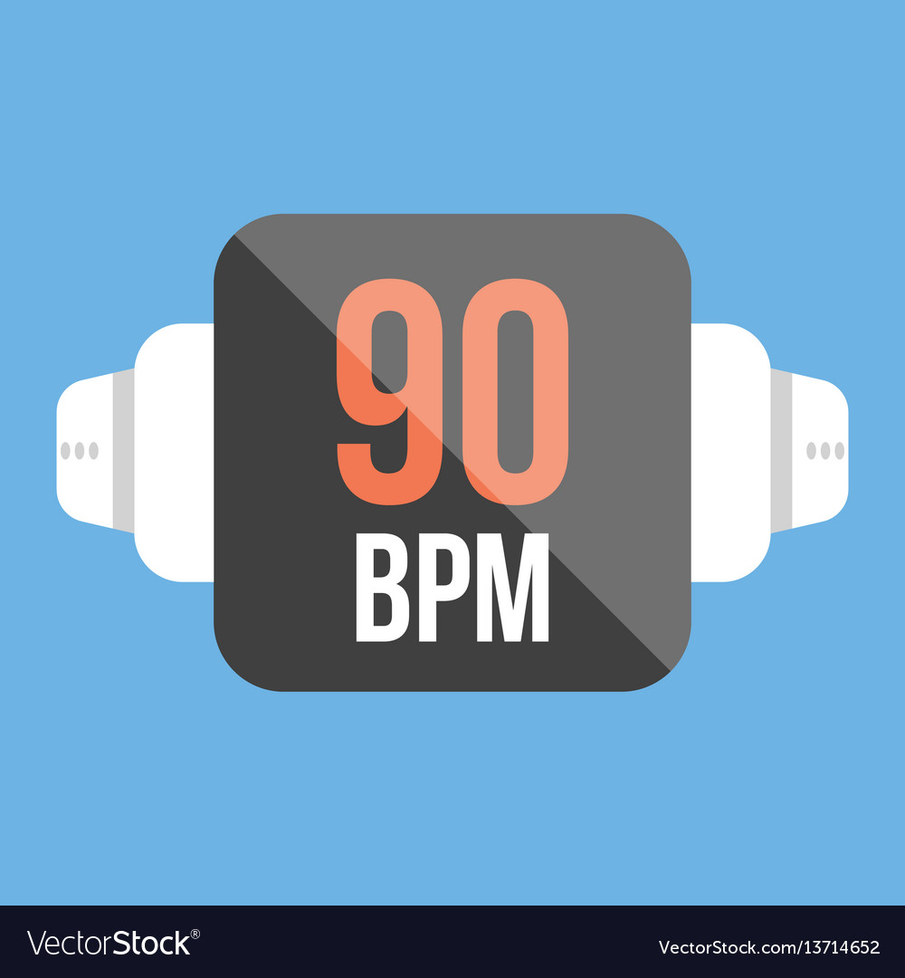 Smart watch icon flat style vector image