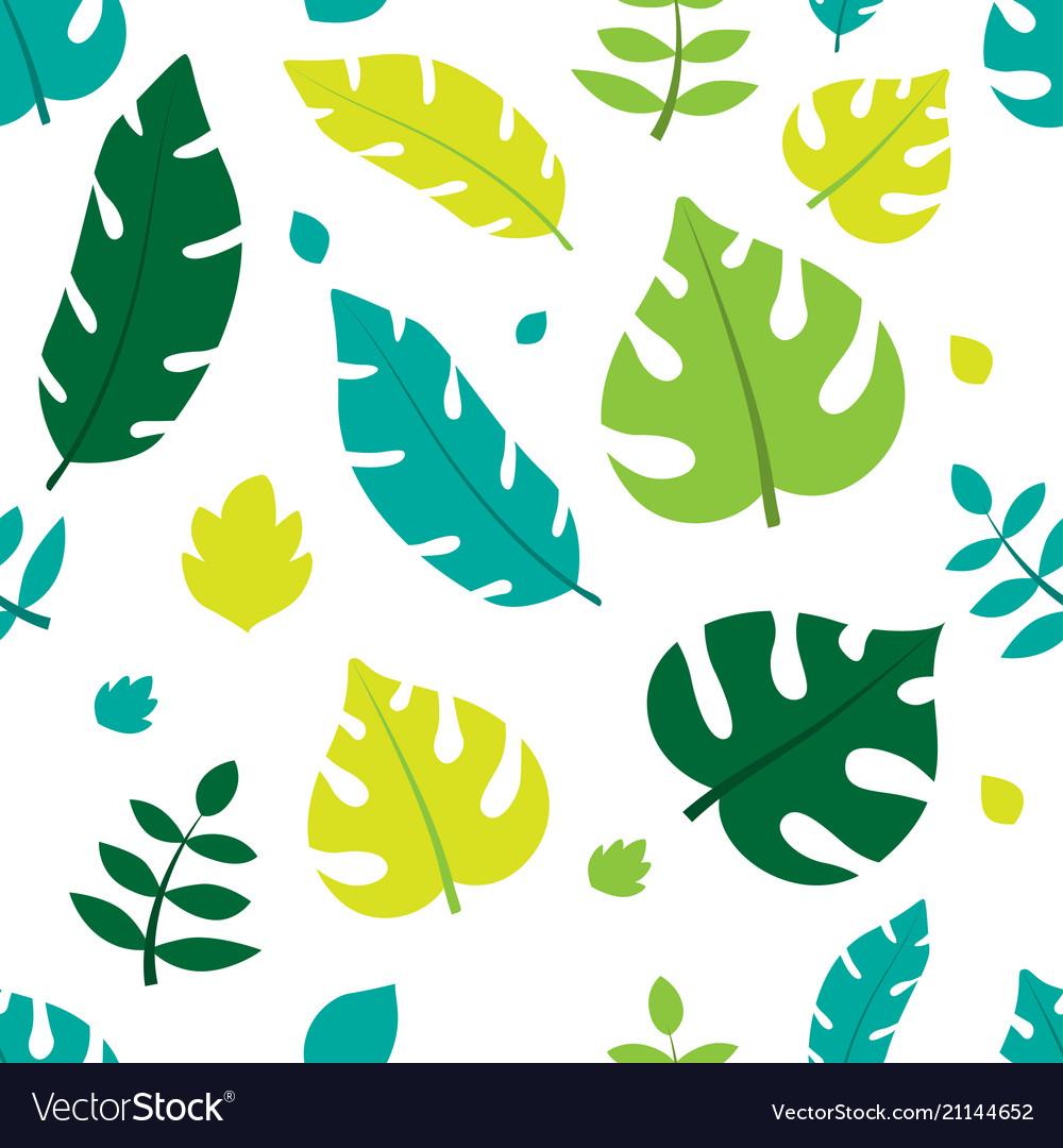 Summer leaves pattern