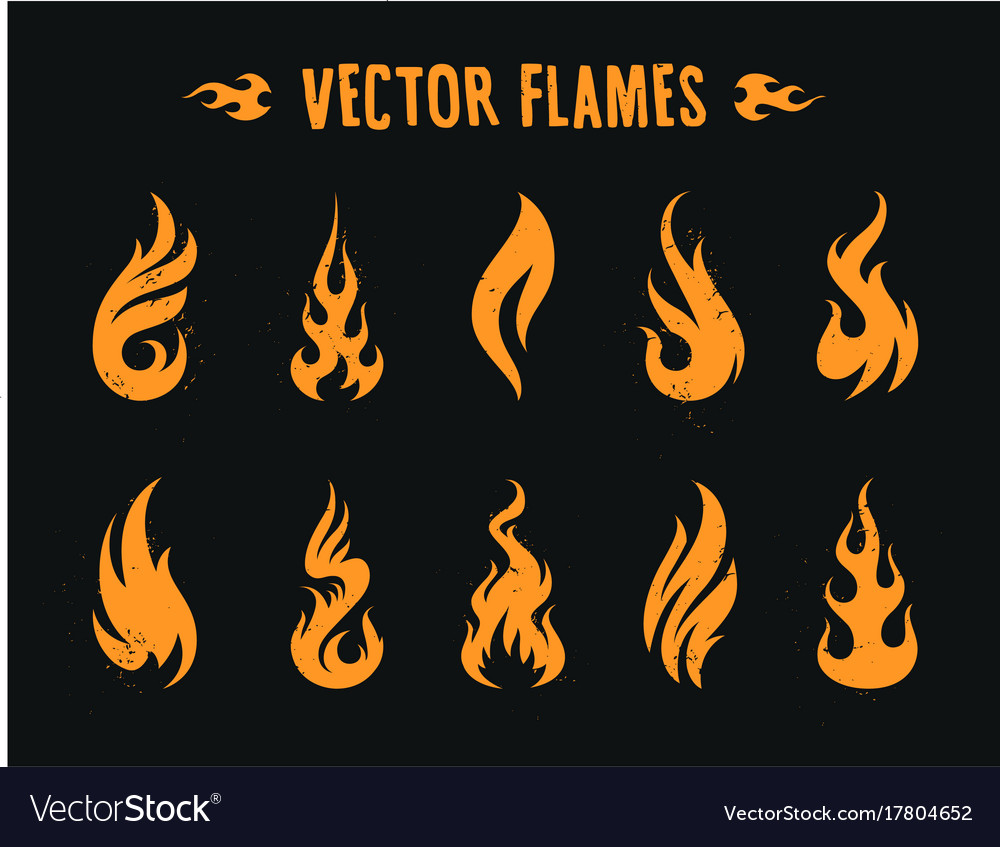 Vector fire icons vector