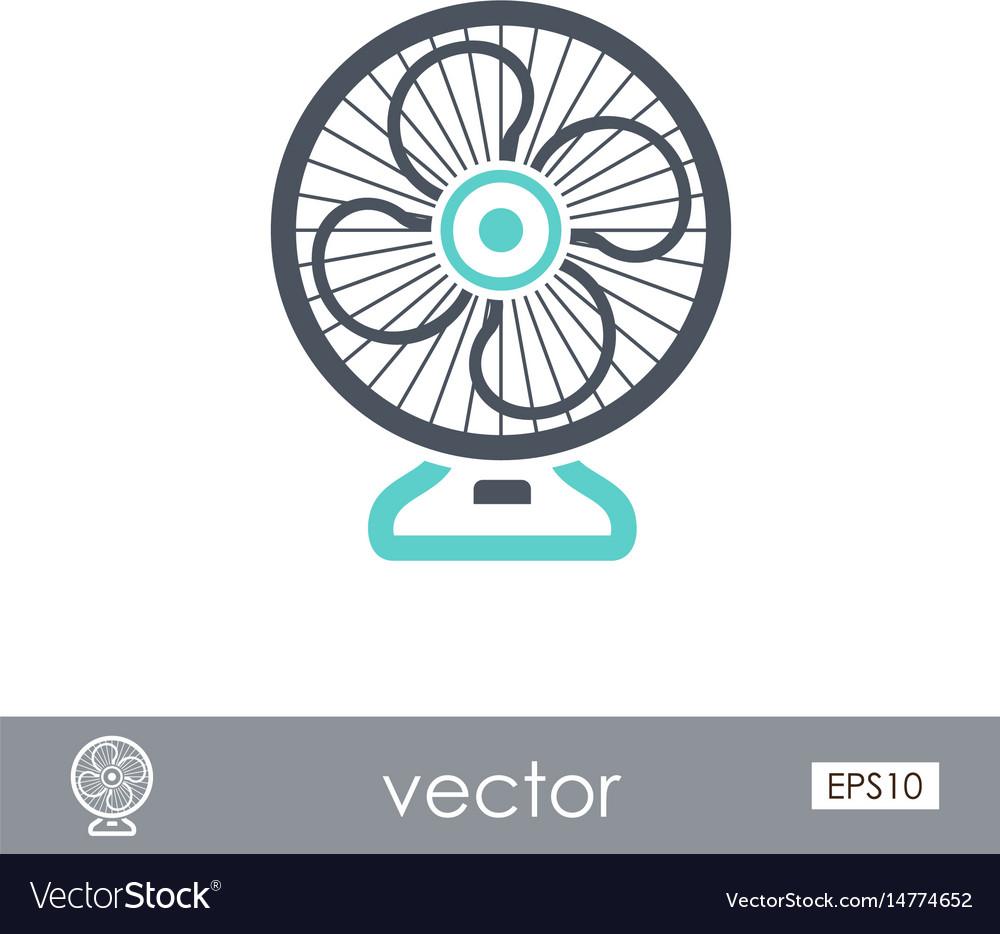 Ventilator outline icon summer vacation