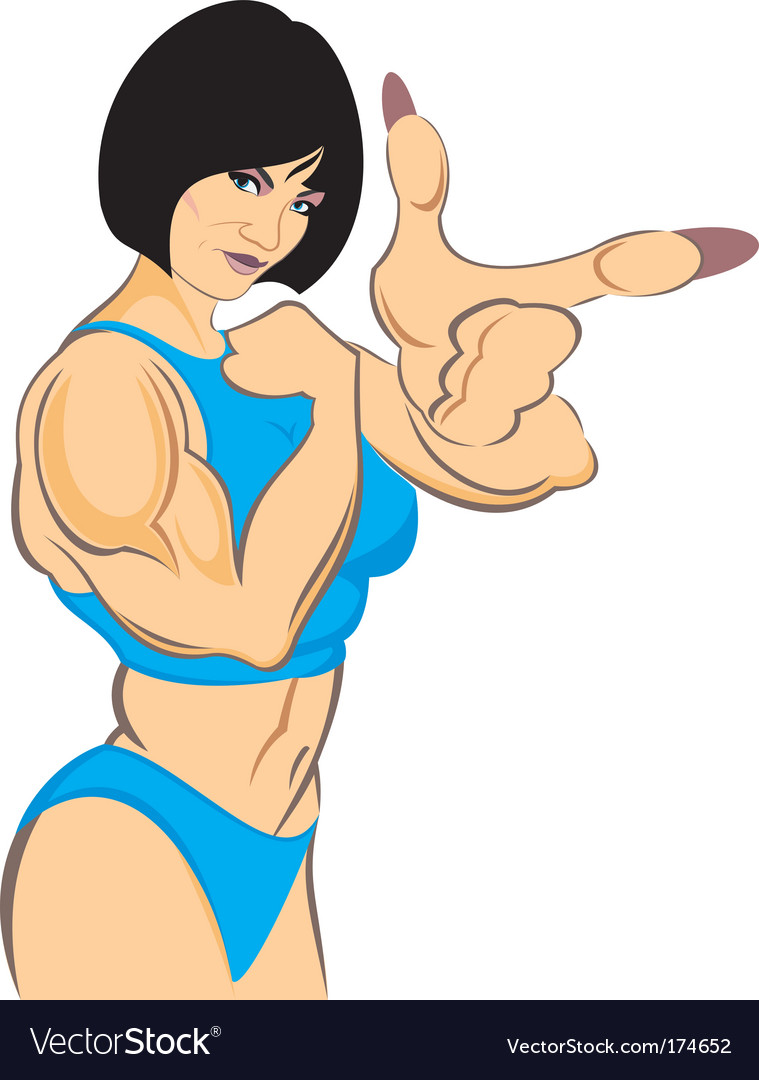 Woman bodybuilder vector image