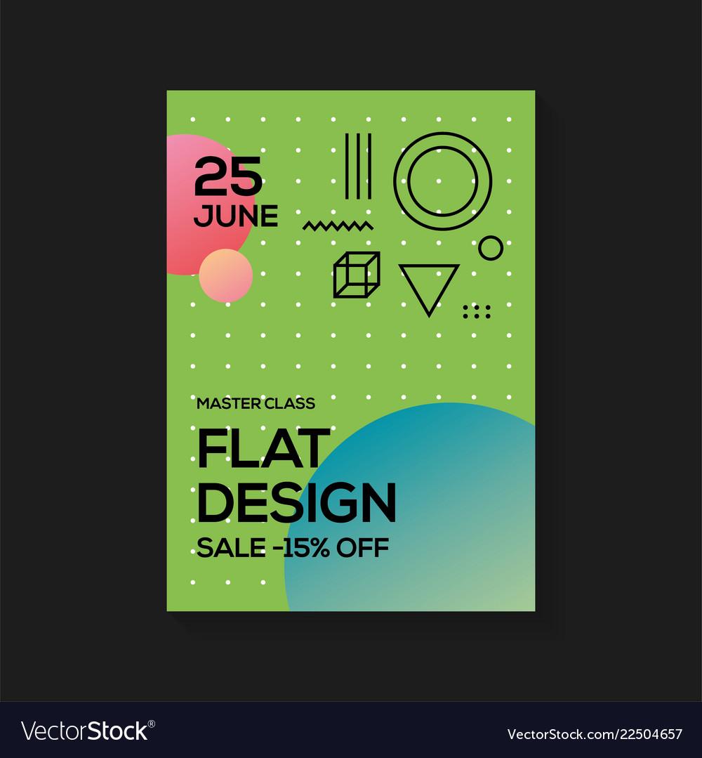 Flat design poster templates