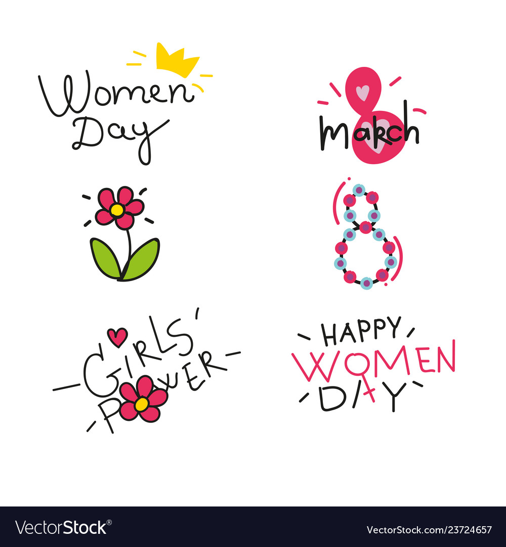 Happy womens day design elements