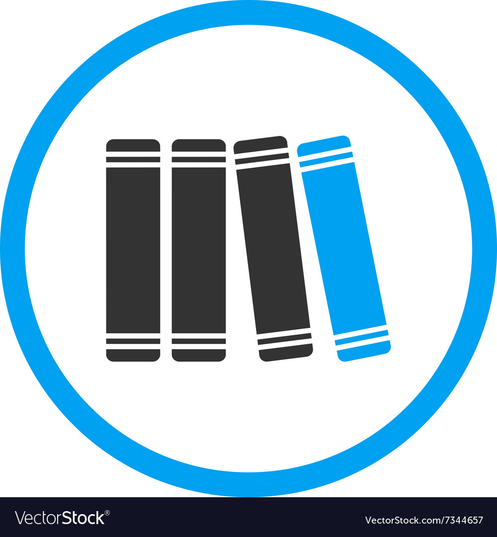 Library Flat Icon vector image