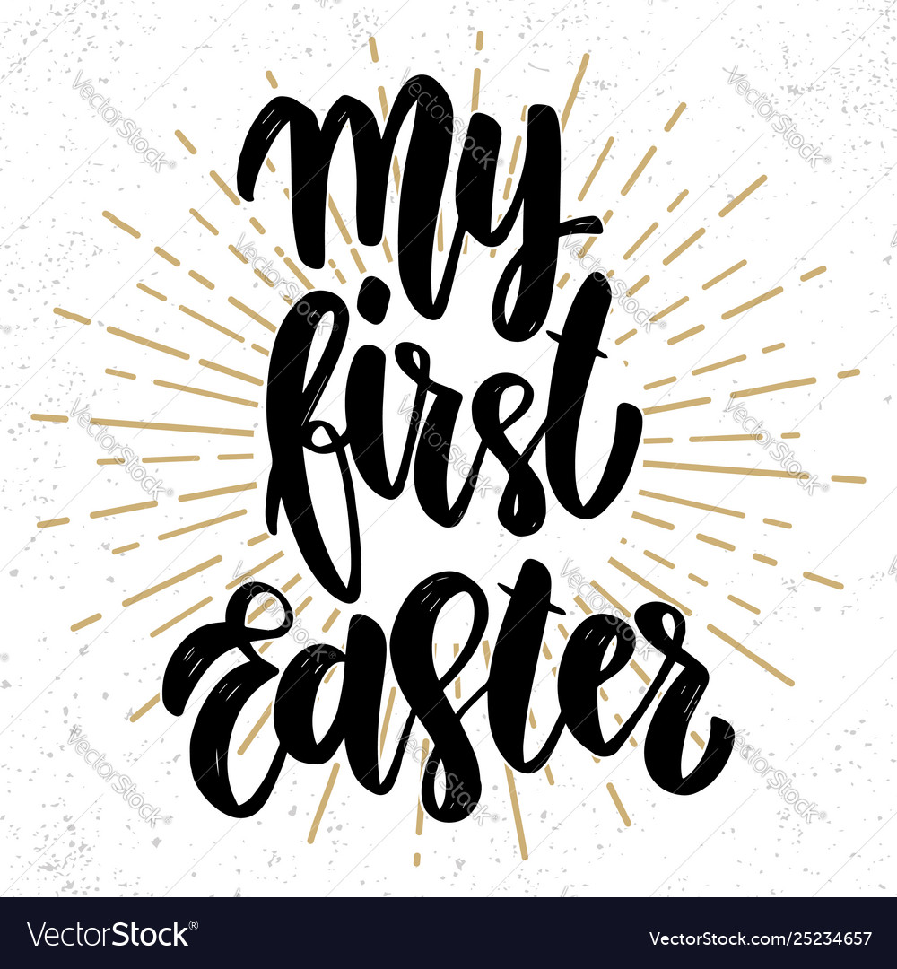 My first easter text lettering phrase for poster