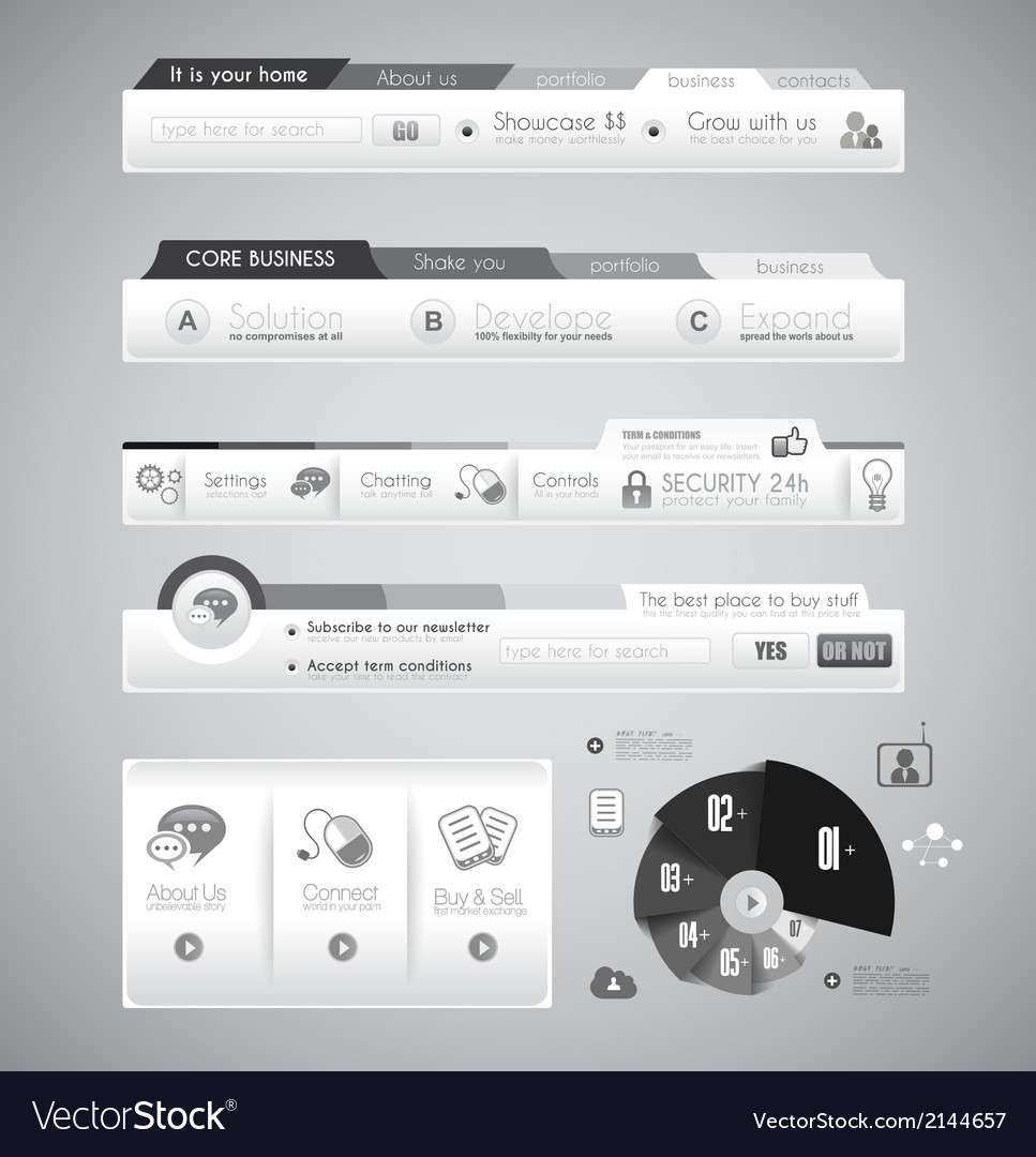 Quality web elements with infographic