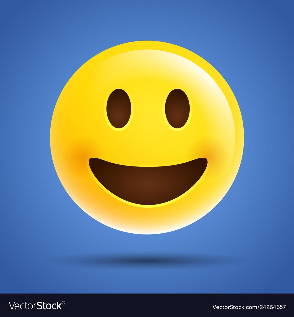 Simple emoticon emoji smile laugh face icon