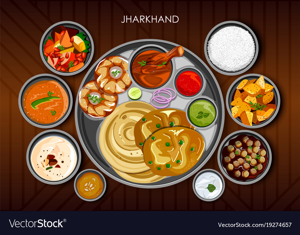 Traditional cuisine and food meal thali of