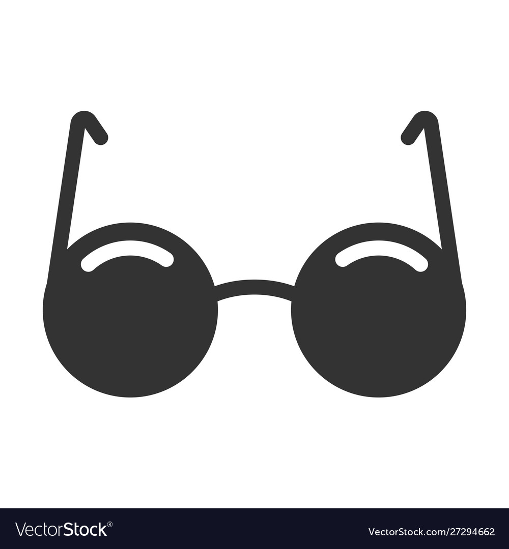 Black glasses icon eye wear and accessory