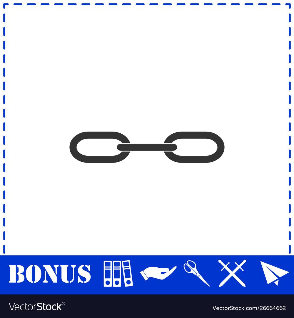 Chain icon flat