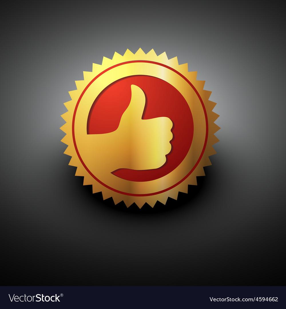 Golden best choice label vector image
