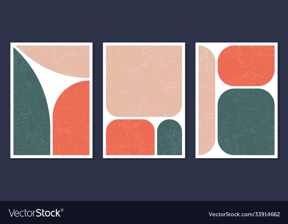 Minimalistic geometric art wall posters set