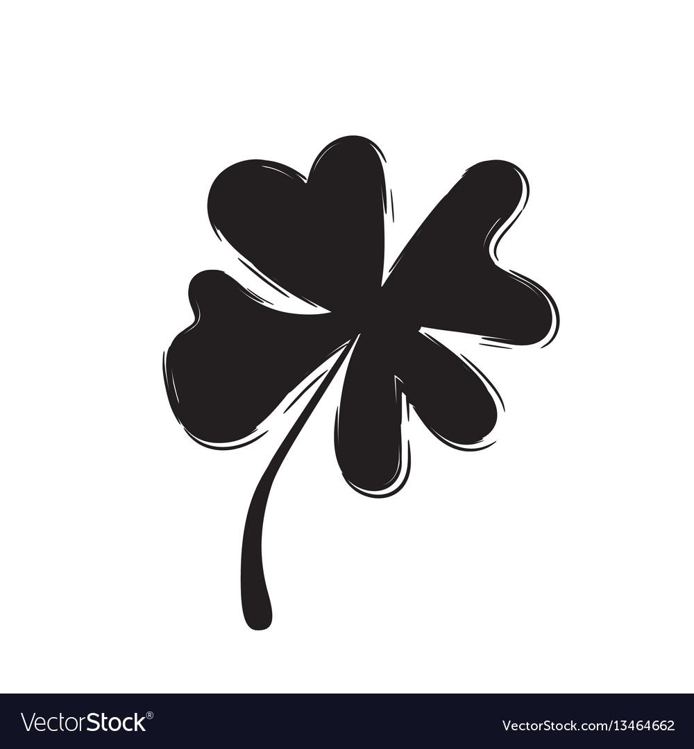 Shamrock icon for st patrick day