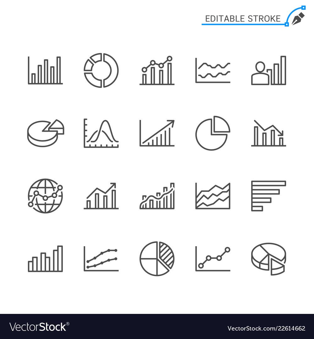 Statistics line icons editable stroke