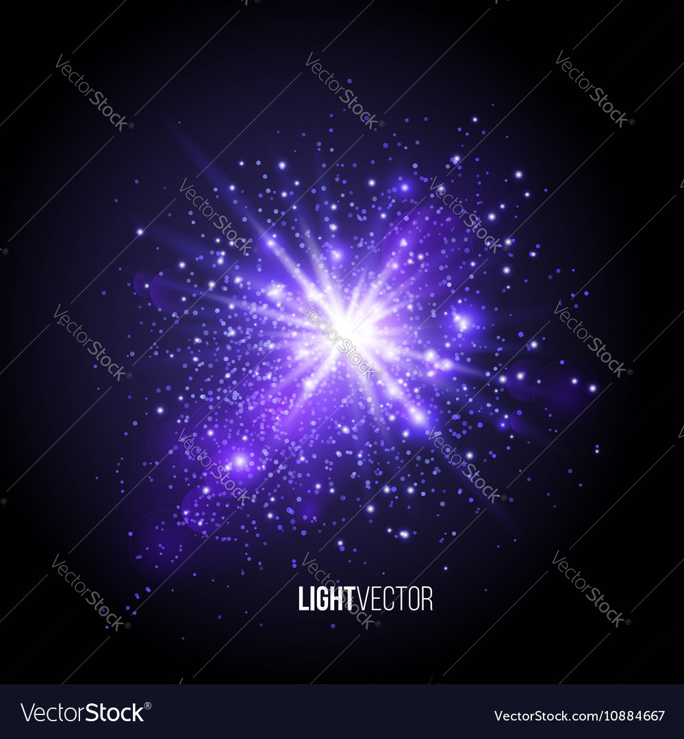 Background burst with sparkles