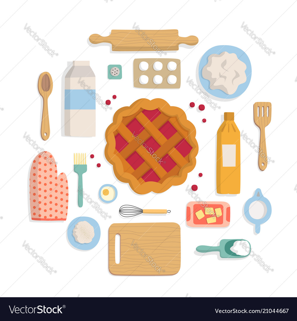 Banner set of accessories for kitchen and bakery