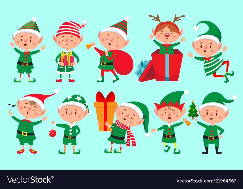 Christmas elf character santa claus helpers