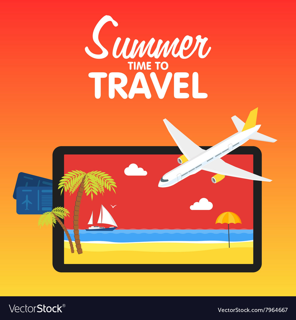 Colorful flat travel banner quality design