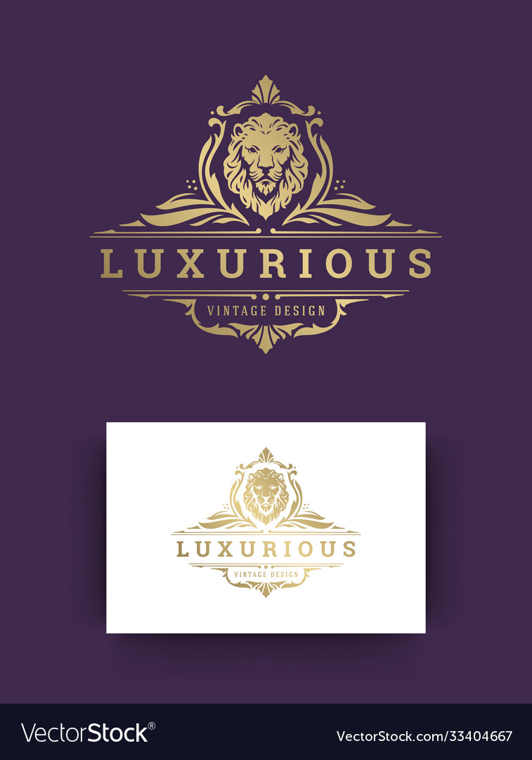 Luxury ornament vintage logo template design vector