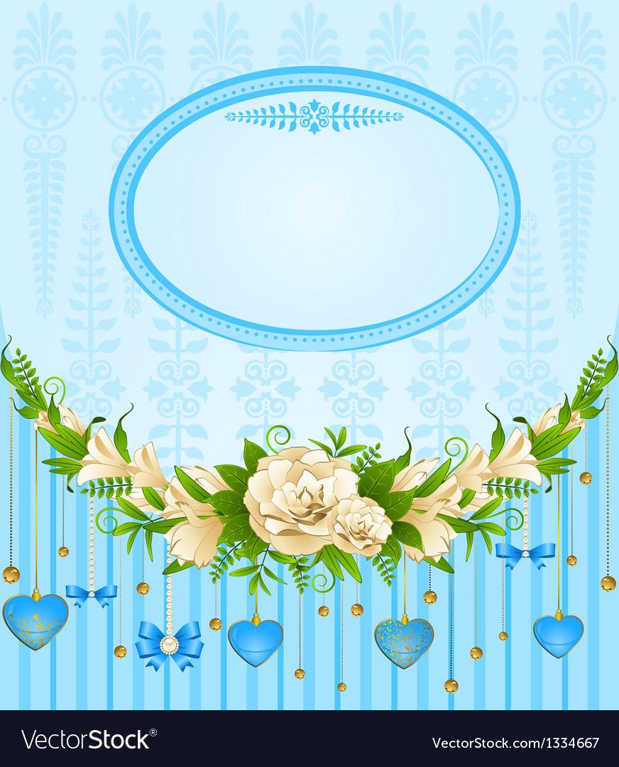Ornate floral frame