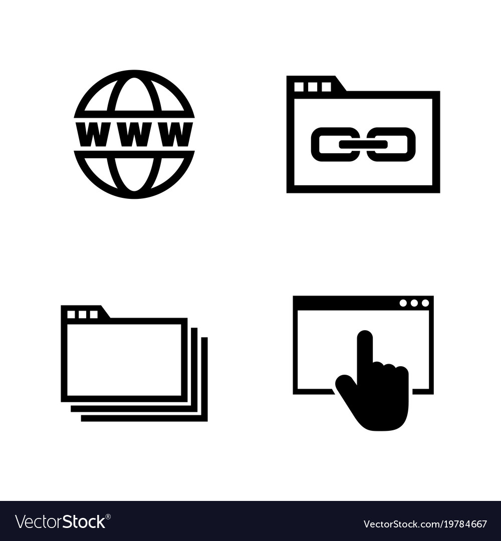 Web browsing simple related icons