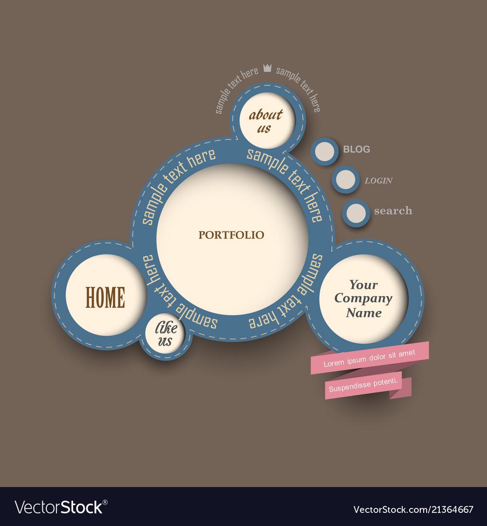 Web design bubbles vintage style