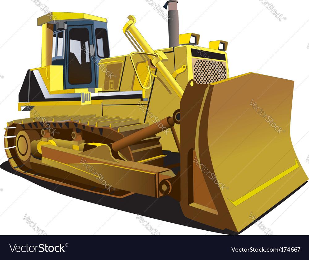 Yellow dozer