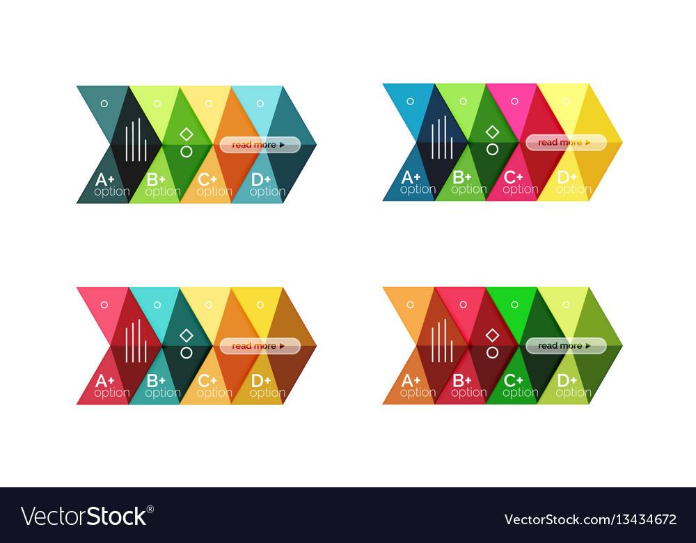 Arrow option infographic templates set vector image