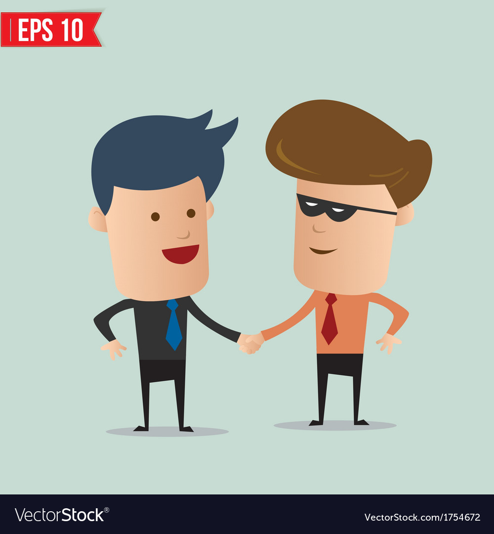Business man hand shake - - EPS10