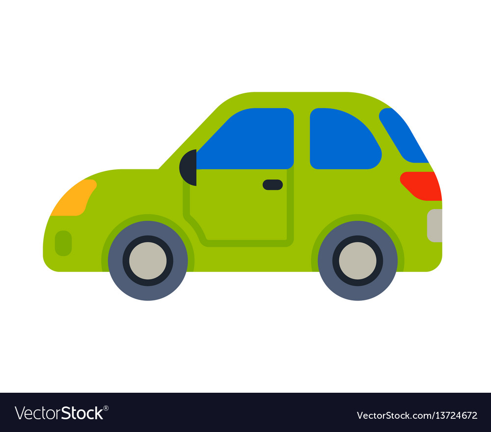 Car vehicle green transport type design travel vector image