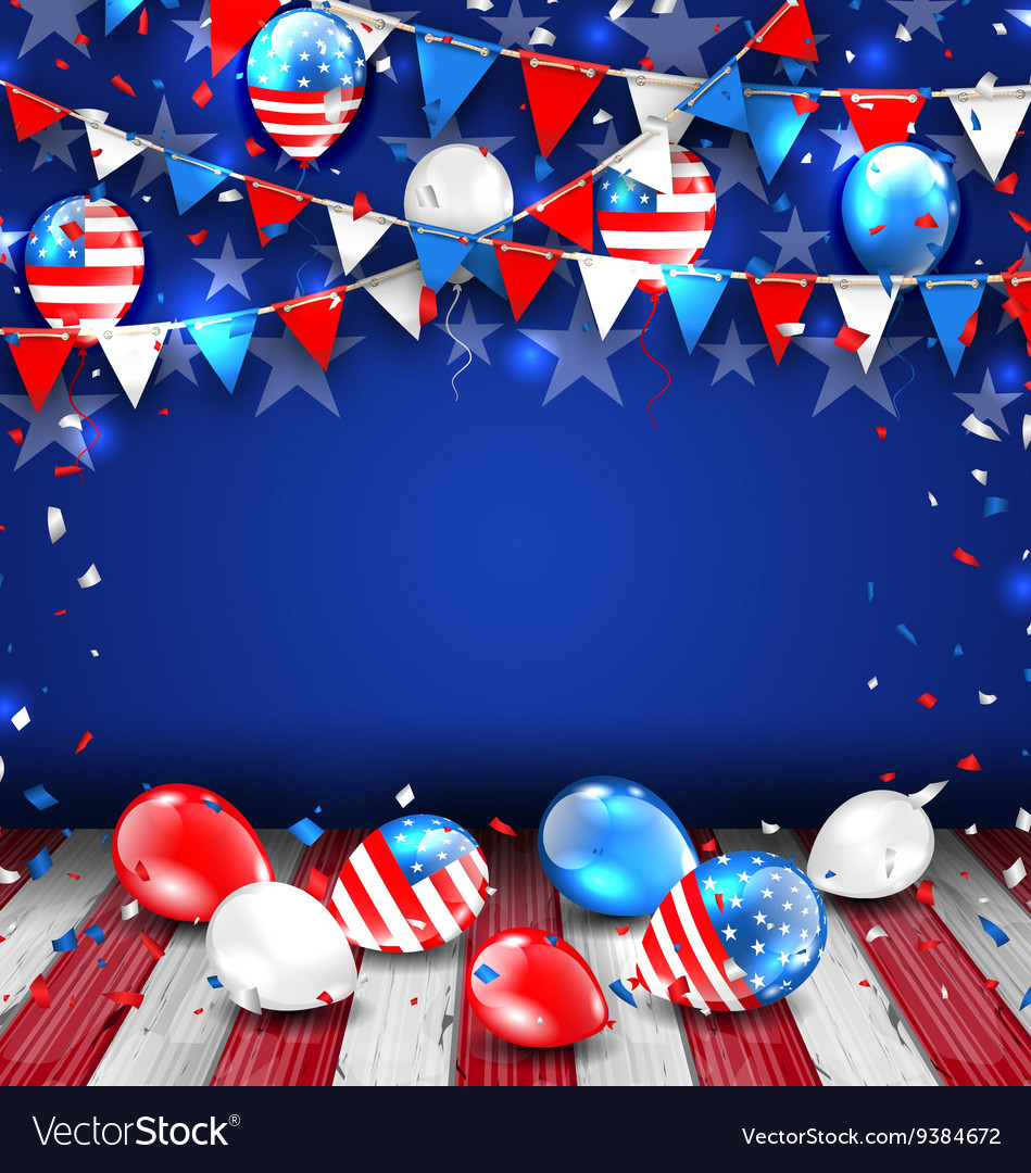 Colorful Template for American Holidays