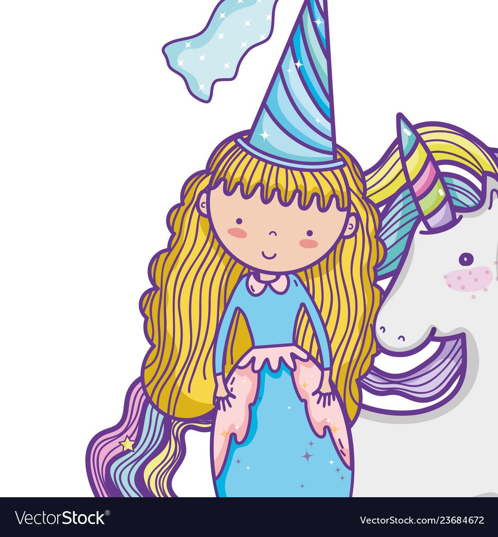 Cute magic princess cartoon