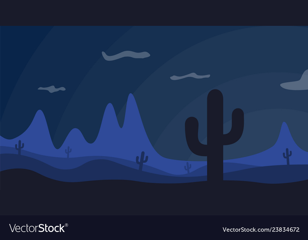 Desert decline dark vector image