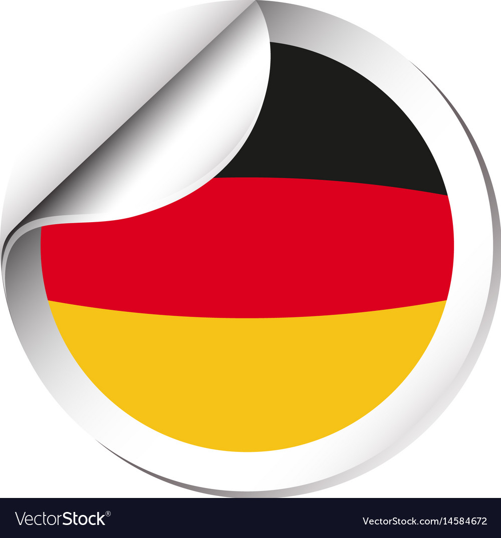 Germany flag on round sticker
