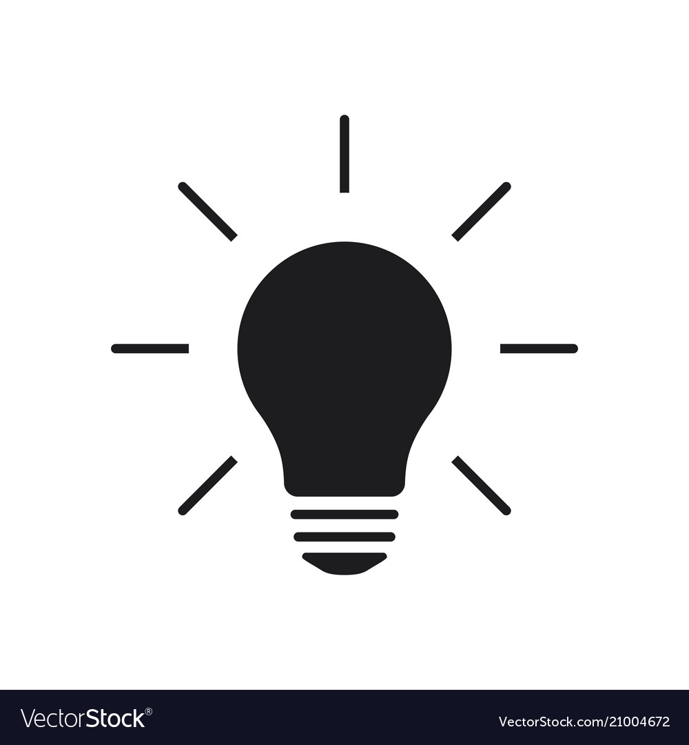 Light Lamp Sign Icon Idea Symbol On Background Vector Image