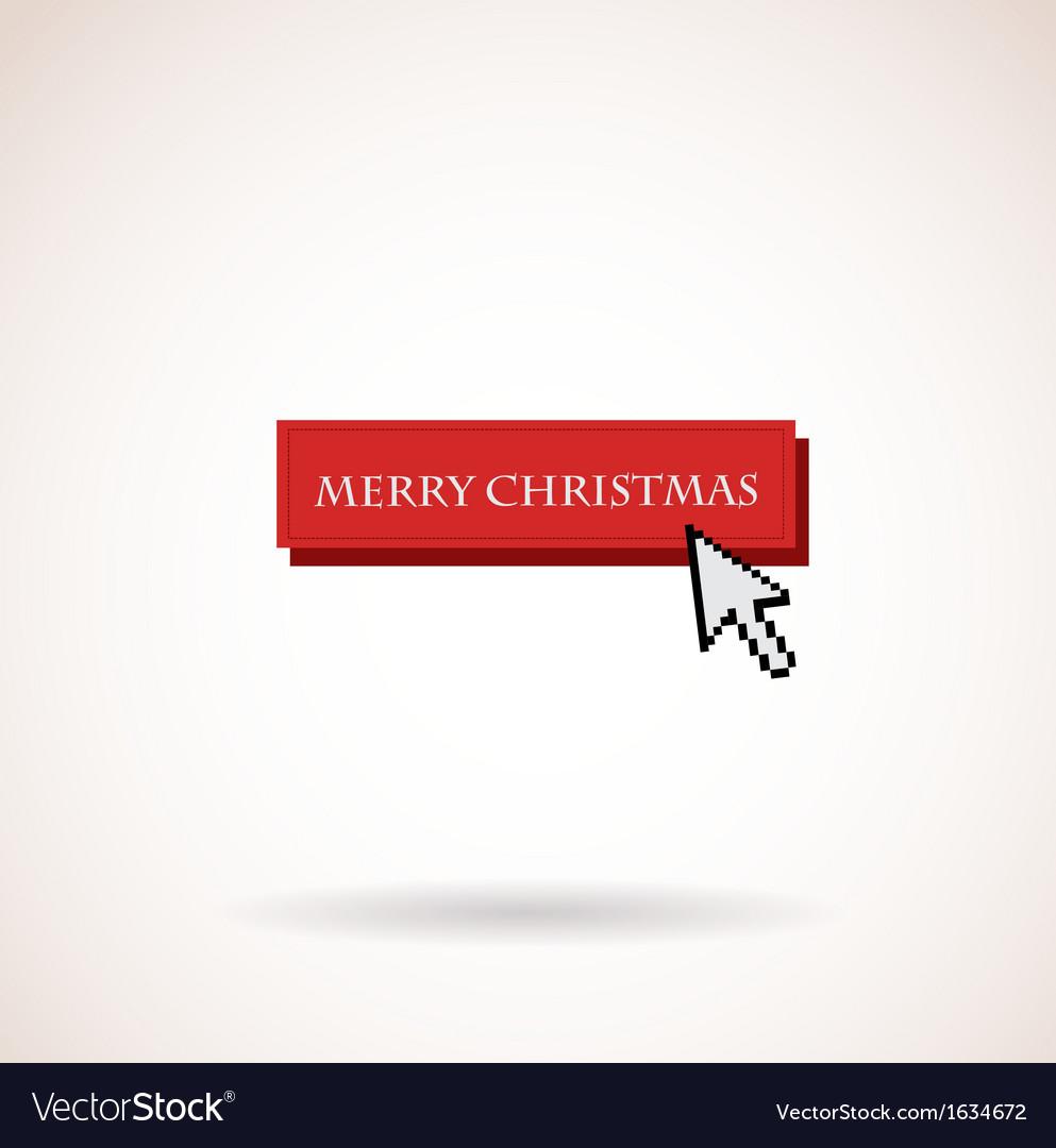 Christmas Arrow.Merry Christmas Button With Computer Arrow