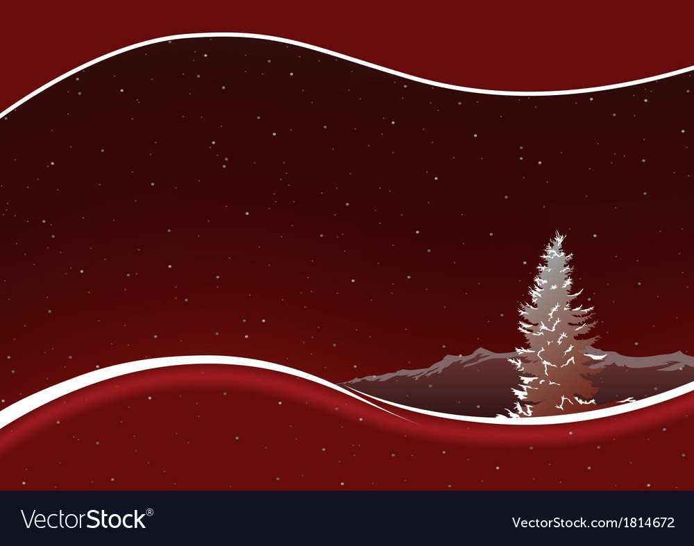 Red Mountains vector image