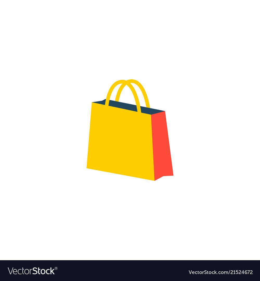 Shopping bag icon flat element