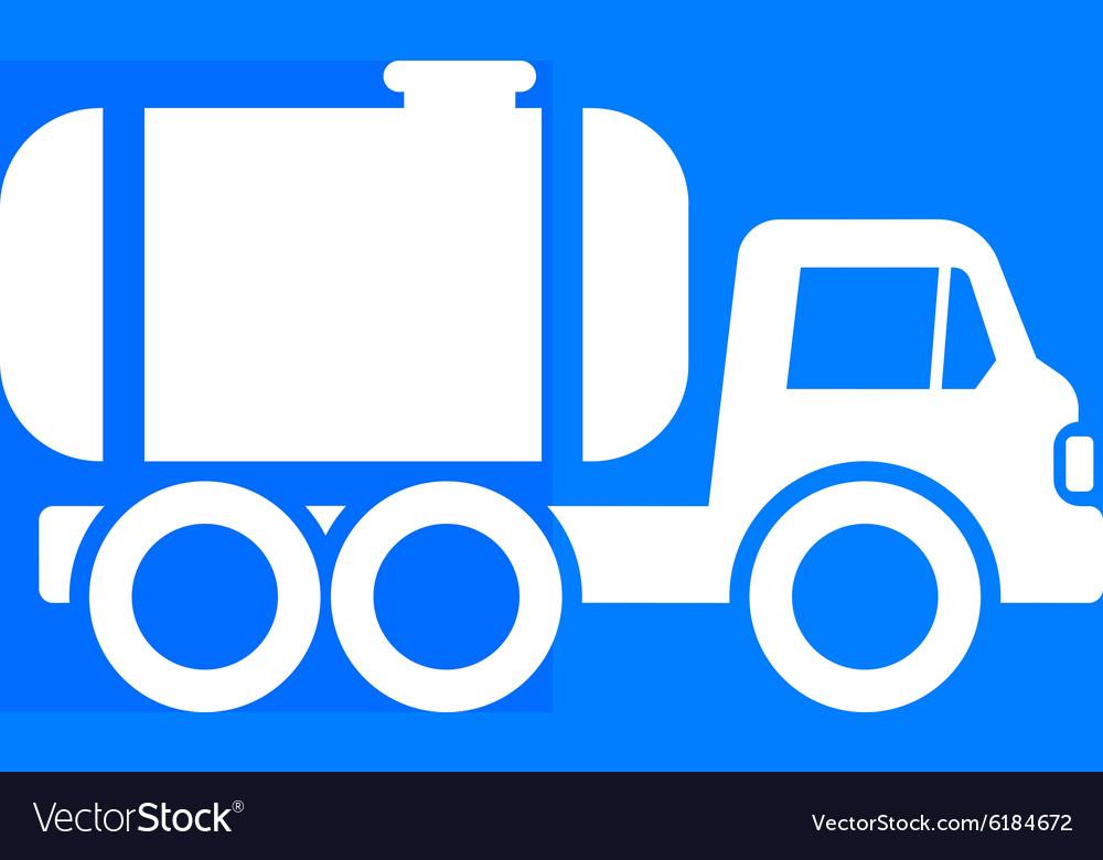 Truck auto barrel icon button logo symbol concept